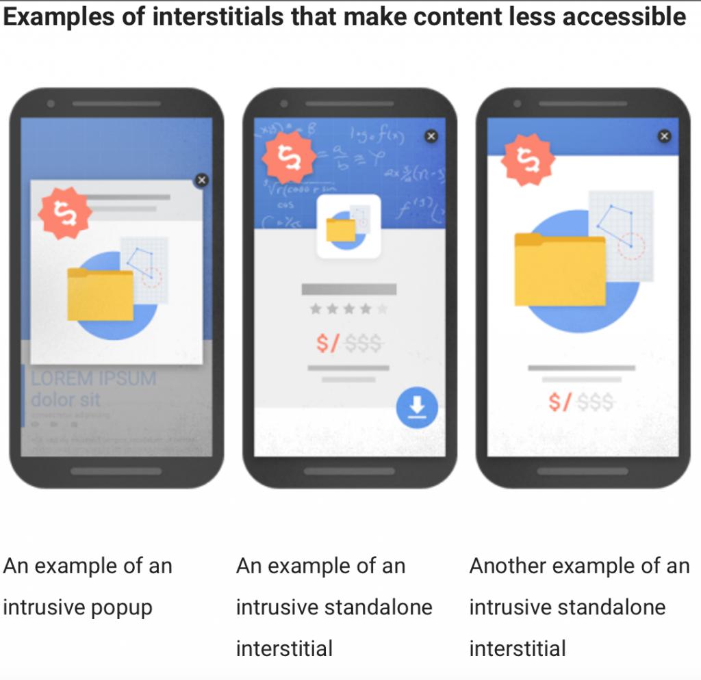 Google Interstitials penalty