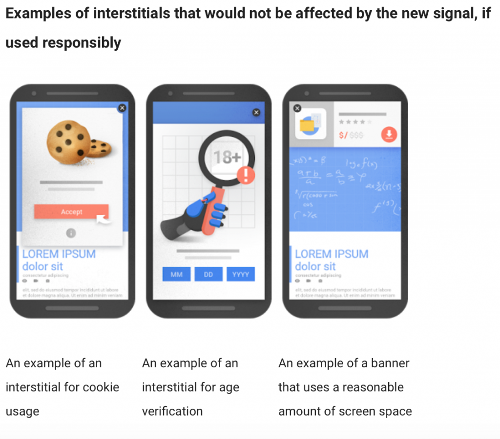 Google permitted mobile overlays