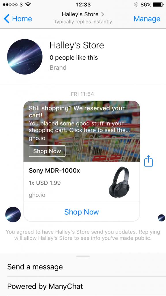 ecommerce, images, messenger
