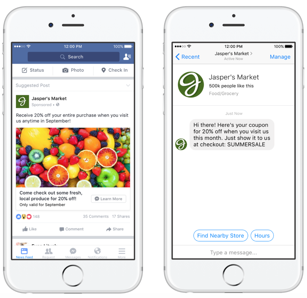 Facebook ads and messenger