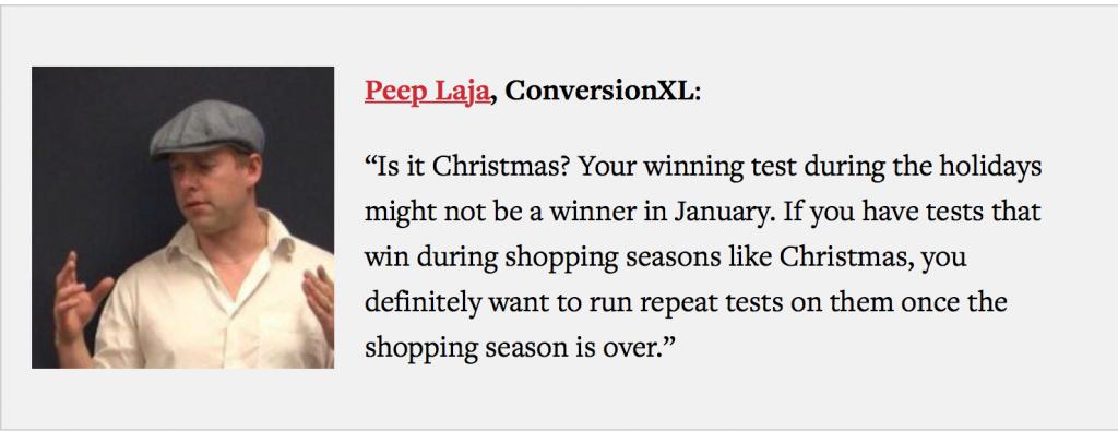 Peep Laja, Christmas Ecommerce