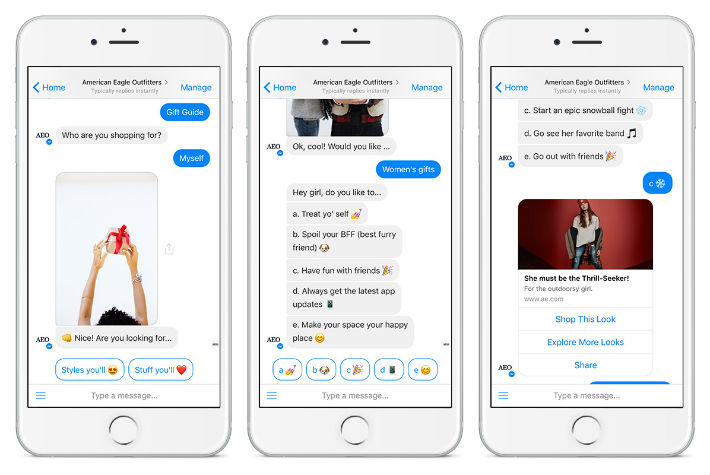 Messenger bot marketing for eccomerce