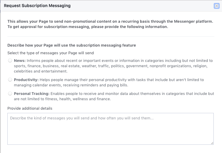 Request Subscription message permissions