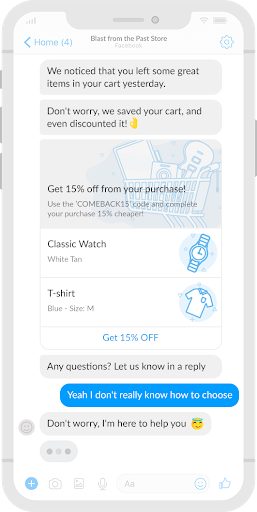 Cart Abandionment Facebook messenger