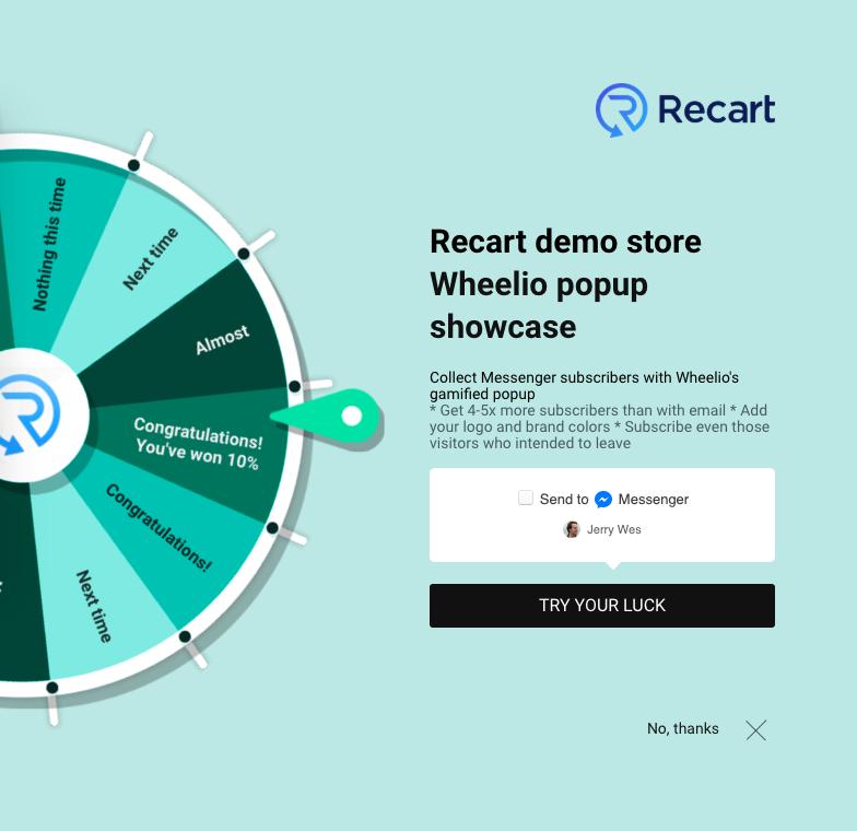 The Recart - Wheelio integration will make you feel like an ecommerce genius