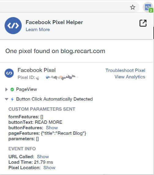 Facebook Pixel Helper Chrome Extension